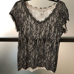DVF lace top